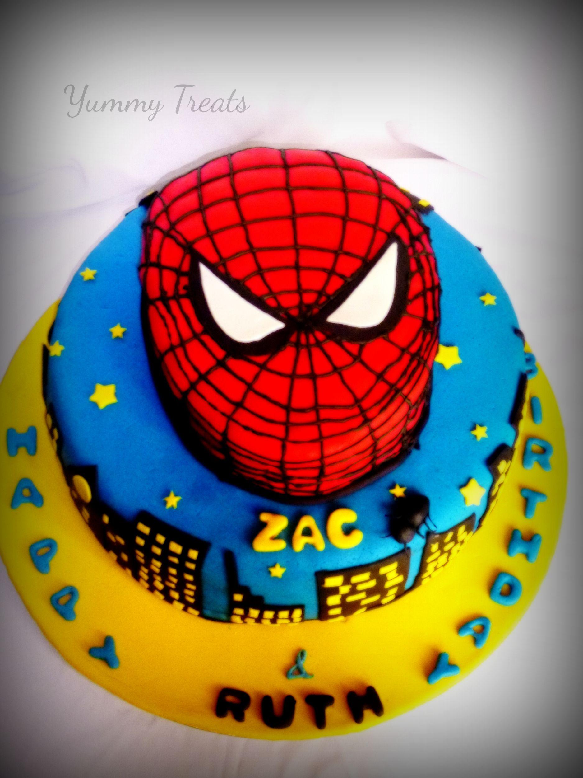 SPIDER MAN THEMED CAKE Jeenas Yummy Treats
