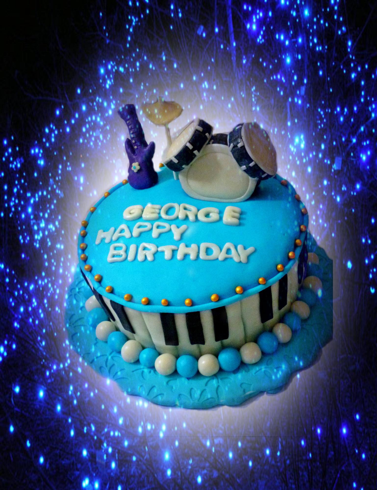 Music Themed Birthday Cake Jeenas Yummy Treats